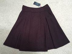 M&S PER UNA Ladies Skirt UK14 EU42 Length about 27  or 69cm BNWT RRP£45 DkClaret