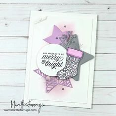 Narelle Farrugia - Independent Stampin' Up!® Demonstrator 21 Cards, Star Cards, Stampin Up Christmas, Stamping Up Cards, Diy Projects To Try, Merry And Bright, Cool Cards, Christmas Projects, Card Making