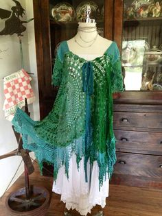 Luv Lucy crochet dress Lucy's Tortuga  by TheVintageRaven on Etsy, $225.00