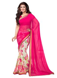 Studio Shubham Designer Printed Pink Colour Saree