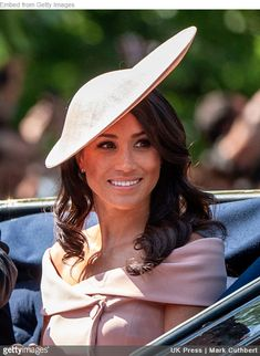 Meghan Markle Duchess of Sussex at Trooping the Colour parade 2018