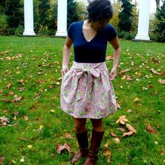 Ali Bow Skirt // Cluster Floral by ChariotsAfire on Etsy, $46.00