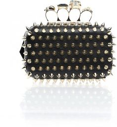 In Love Again jewelled knuckle ring handle with spikes clutch in UAE   Souq Fashion   Souq