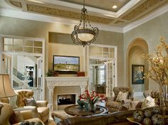Private Residence by John Cannon Homes mediterranean living room