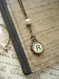 Typewriter Key Jewelry  Yellow Letter R by PreciousPastimes, $44.50