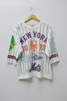 timeless design b4818 afb79 New York Mets Shirt New York Mets 1973 World Series Vintage New York Mets  National League Champions by Long Gone Made in USA Size L