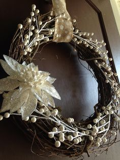 let it snow wreath by BellaVellaDesigns on Etsy https://www.etsy.com/listing/165282637/let-it-snow-wreath