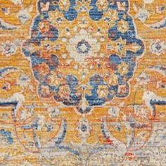 Blauer Webteppich im Shabby-Chic-Stil: ein uriges Deko-Highlight