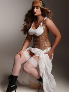 Vivienne Steel Boned Underbust Corset.  Crafted in soft tan leather with steel boning throughout for amazing structure and support. Pair with a white tank or blouse for the perfect look.