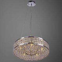 Joshua Marshal Home Collection 5 Light Round Pendant with Clear European Crystals - Overstock Shopping - Great Deals on Joshua Marshal Home Collection Chandeliers & Pendants
