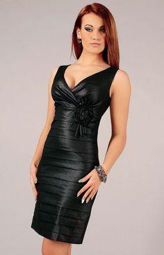 Vera Fashion Greta sukienka czarna, Niezwykle efektowna sukienka wieczorowa