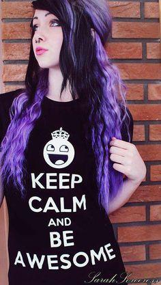 #purple & #black #dyed #hair #pretty
