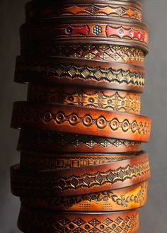 leather bracelets are always easy to make.
