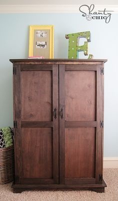 Superbe DIY Furniture: Pottery Barn Inspired Armoire   Free Plans!