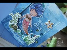 Nichol Spohr LLC: Honey Bee Stamps | You Are A Star Mermaid Shaker Card