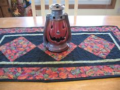 Fall Leaves Quilted Table Runner by SweetDreamsbyMoosie on Etsy, $35.00