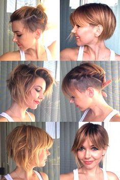21 Attention Grabbing Undercut Bob Ideas To Bolden Your Days New Site - Kurzhaarfrisuren Short Bob With Undercut, Undercut Bob Haircut, Haircut Short, Medium Undercut, Shaved Undercut, Growing Out Undercut, Side Undercut, Undercut Curly Hair, Undercut Styles
