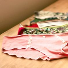 Make your own underwear from scraps of knit fabric or upcycling old Ts!