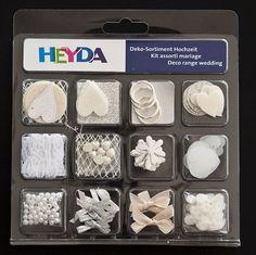 Zestaw Elementów Dekoracyjnych Heyda Ślub | Zestawy do scrapbooking 'u \ Akcesoria i dekoracje Producenci \ Heyda Akcesoria i dekoracje \ Zestawy dekoracyjne