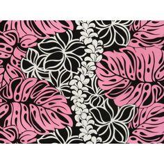 ハワイアン生地(ファブリック) QSQ-13-787 【モンステラ&プルメリア 】 ブラック Monstera Deliciosa, Plant Design, Hula, Hawaiian, Tapestry, Island, Plants, Decor, Hanging Tapestry