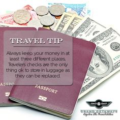 money placement while traveling