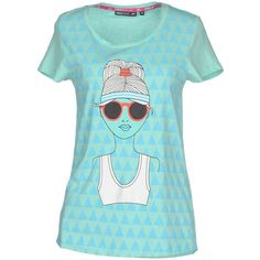 Only Play T-shirt ($28) ❤ liked on Polyvore featuring tops, t-shirts, light green, logo t shirts, blue tee, pattern tops, short sleeve t shirts and print top