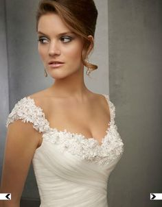 Love the top of the wedding dress. Just a little bit higher, and perfecto!