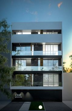 ONE Apartments Residential Building Design, Architecture Building Design, Home Building Design, Facade Design, House Outer Design, House Outside Design, House Front Design, 3 Storey House Design, House Design Pictures