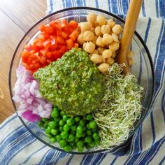 All you need is some fresh veggies, hot pasta, and a mixing bowl to bring these flavors together! Orzo with Lemon Chimichurri Sauce from Street Smart Nutrition