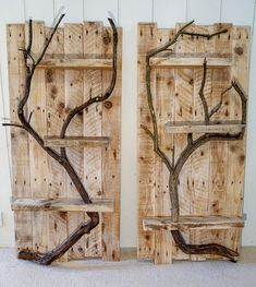 Rustic Home Decor Large Wall Art Reclaimed Pallet Shelves