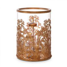 GOLDEN FROND HURRICANE   Holds Tealight, 3-wick candle, jar and pillar www.partylite.biz/natalinejepsen