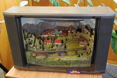Train in a tv Z scale