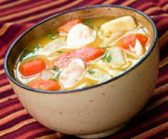 Chicken soup with giblets