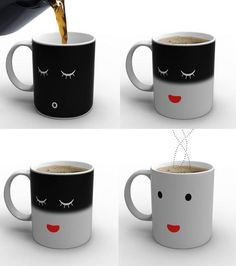 Mug that changes when you add your brew
