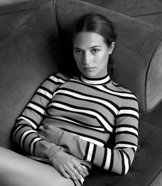 Alicia Vikander wearing Marc Jacobs Spring '18 photographed by Thomas Whiteside, styled by Alison Edmond for Marie Claire