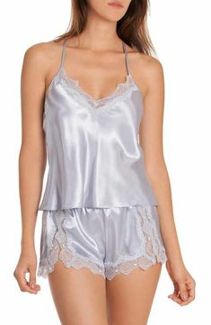 Main Image - In Bloom by Jonquil Satin Short Pajamas (Nordstrom Exclusive) Plus Lingerie, Satin Lingerie, Lingerie Outfits, Pretty Lingerie, Beautiful Lingerie, Women Lingerie, Sexy Lingerie, Satin Sleepwear, Satin Pajamas