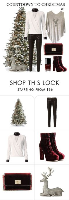"""""""COUNTDOWN TO CHRISTMAS #1"""" by cashmererebeluk on Polyvore featuring Frontgate, Frame Denim, Exclusive for Intermix, Jimmy Choo, Lene Bjerre and Chanel"""