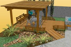 Handicapped access home deck