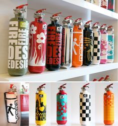 modern design fire extinguishers by fire design :: in France only