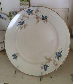 """Wonderful Large Bluebird Bluie Bird China 9 3 4"""" Dinner Plate C 1925 Excellent   eBay"""