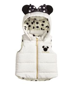 Padded Vest | White/Minnie Mouse | Kids | H&M US