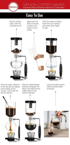 How To Use A Vacuum Coffee Maker - How To Use Siphon Coffee Makers    #Coffee #Espresso #coffeelovers #vacuumcoffeemaker #Vacpots #Siphoncoffeemaker #Syphoncoffeemaker #Bestvacuumcoffeemaker #Kitchen #Food #Drink #cafe #barista #coffeeshop