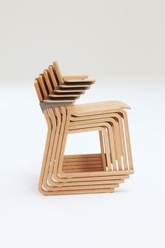 Stacked Theo chairs