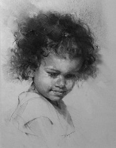A Thought by Michael Maczuga Charcoal ~ 20 x 16