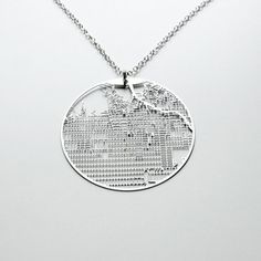 Necklace LA Hollywood now featured on Fab. Urban maps on jewelry many cities