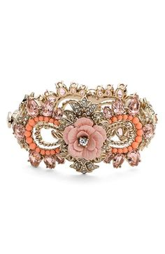 Marchesa 'Drama' Floral Crystal Bangle