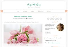 Sugar & Spice is a chic, feminine wordpress theme created with wedding blogs and wedding industry in mind.