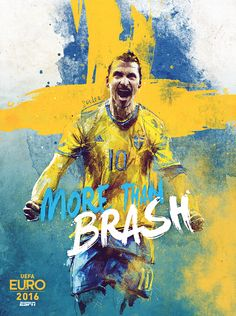"""To celebrate the UEFA Euro 2016 tournament, ESPN decided to create a series of 25 posters, highlighting the best players.The concept is to use for each posters the same catchphrase """"More Than…"""" then customizing it according to the team.I try to create …"""