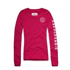 Abercrombie & Fitch Womens/Girls Long Sleeve T-shirt in Pink