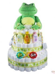 Ponds the Frog Diaper Cake 3 Tier